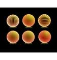 Striped orange ball logo vector