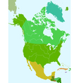 North america countries vector