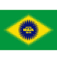 Halftone flag of brazil vector