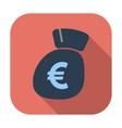 Euro flat icon vector
