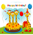 Birthday giraffe vector