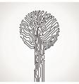 Creative electronic tree vector