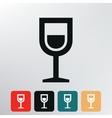 Shot drink icon vector
