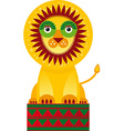 Big lion in the circuson a white background vector