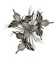 Artistic butterflies pattern vector