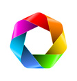 Abstract rainbow polygon icon for your design vector