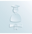 Graduate student silhouette vector