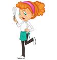 Female chef vector