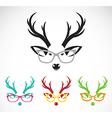 Images of deer wearing glasses vector