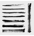 Set of grungy brushes vector