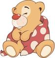 Soft toy a bear cartoon vector