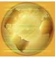 Golden globe background vector