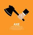 Axe in hand vector