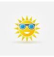 Sun with sunglasses bright icon vector