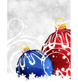 Red and blue christmas balls vector