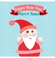 Funny christmas postcard with santa claus vector