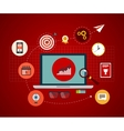 Icons set of modern business working elements vector