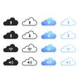 Cloud computing icons - set 1 vector