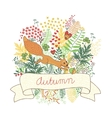 Beautiful card with a squirrel vector