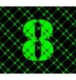 Number eight icon symbol flat modern web design vector