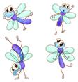 Cute dragonflies vector