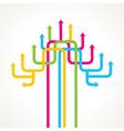 Colorful arrow tree design vector