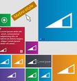 Speaker volume icon sign metro style buttons vector