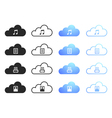 Cloud computing collection - set 2 vector