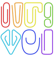 Paperclips set vector