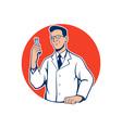 Scientist lab researcher chemist cartoon vector