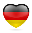 Heart icon of germany vector