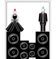 Punks with speakers 4 vector