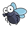 Cute little cartoon fly insect vector