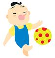 Cartoon baby boy vector