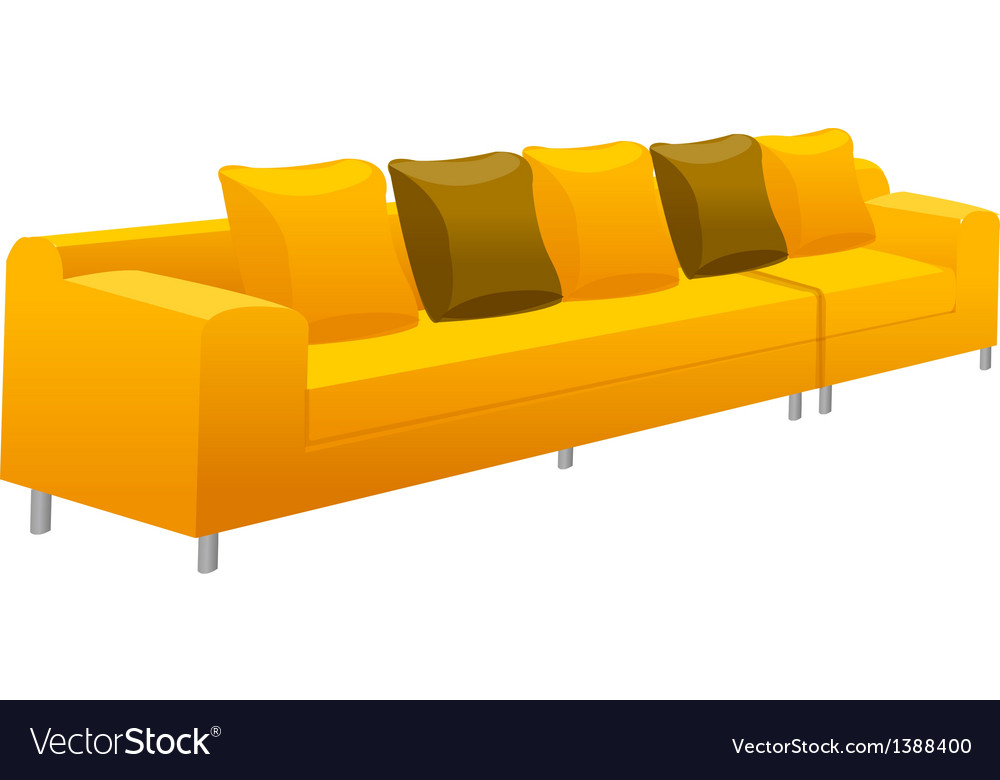 A view of a sofa vector | Price: 1 Credit (USD $1)