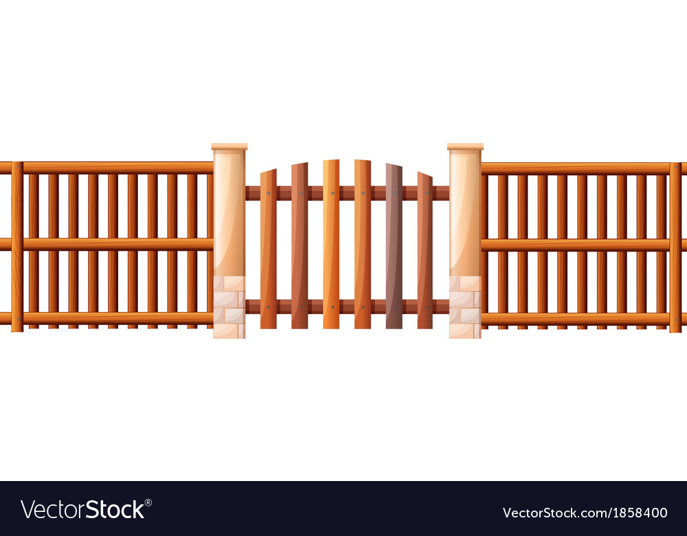 A wooden barricade vector | Price: 1 Credit (USD $1)