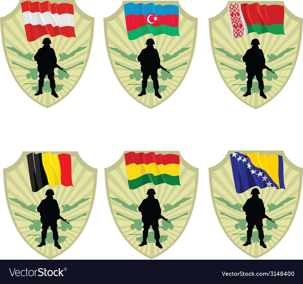 Army in the world vector | Price: 1 Credit (USD $1)