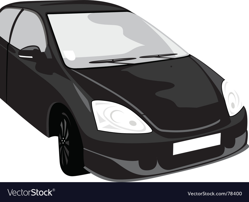 Black car vector | Price: 1 Credit (USD $1)