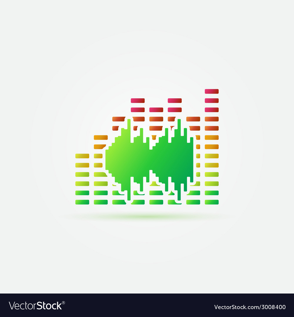 Bright music sound icon vector | Price: 1 Credit (USD $1)