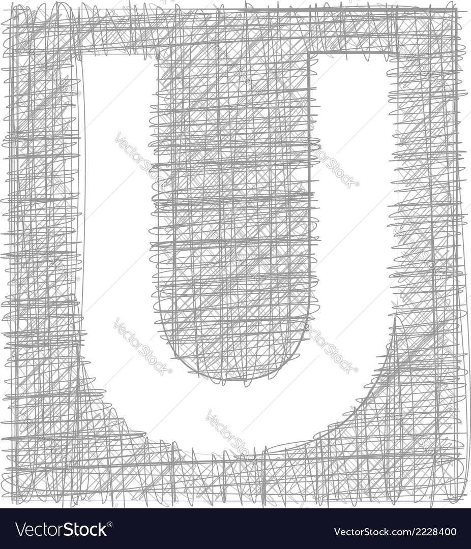 Freehand typography letter u vector   Price: 1 Credit (USD $1)