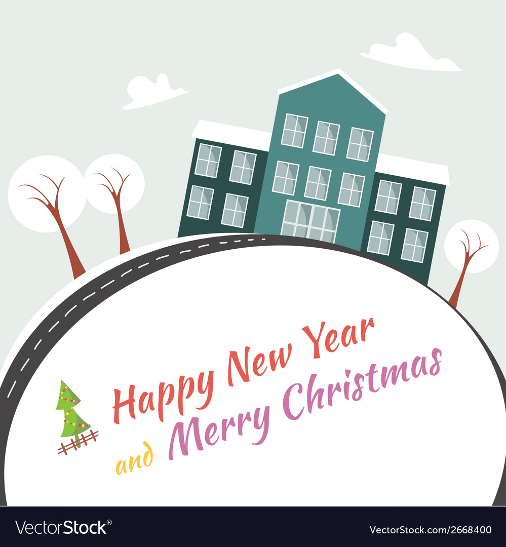 Happy new year end merry x-mas vector | Price: 1 Credit (USD $1)
