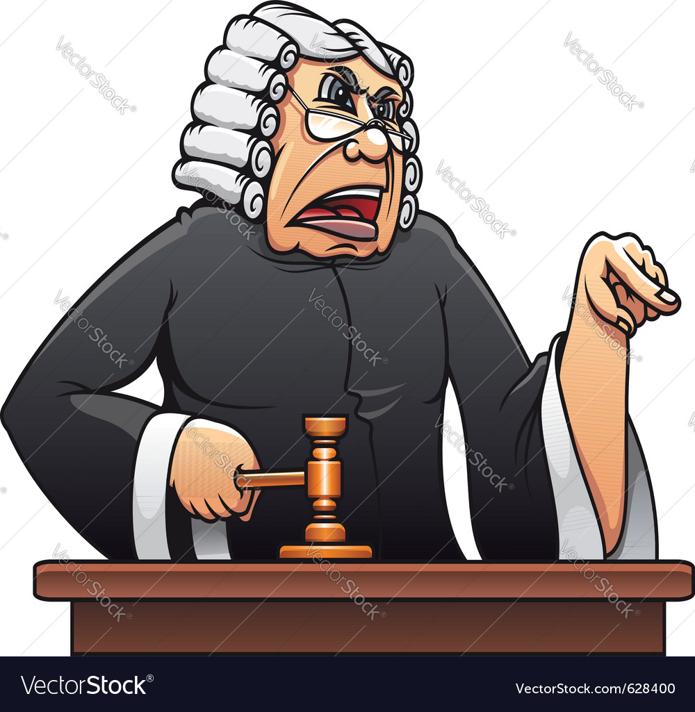 Judge with gavel vector | Price: 3 Credit (USD $3)