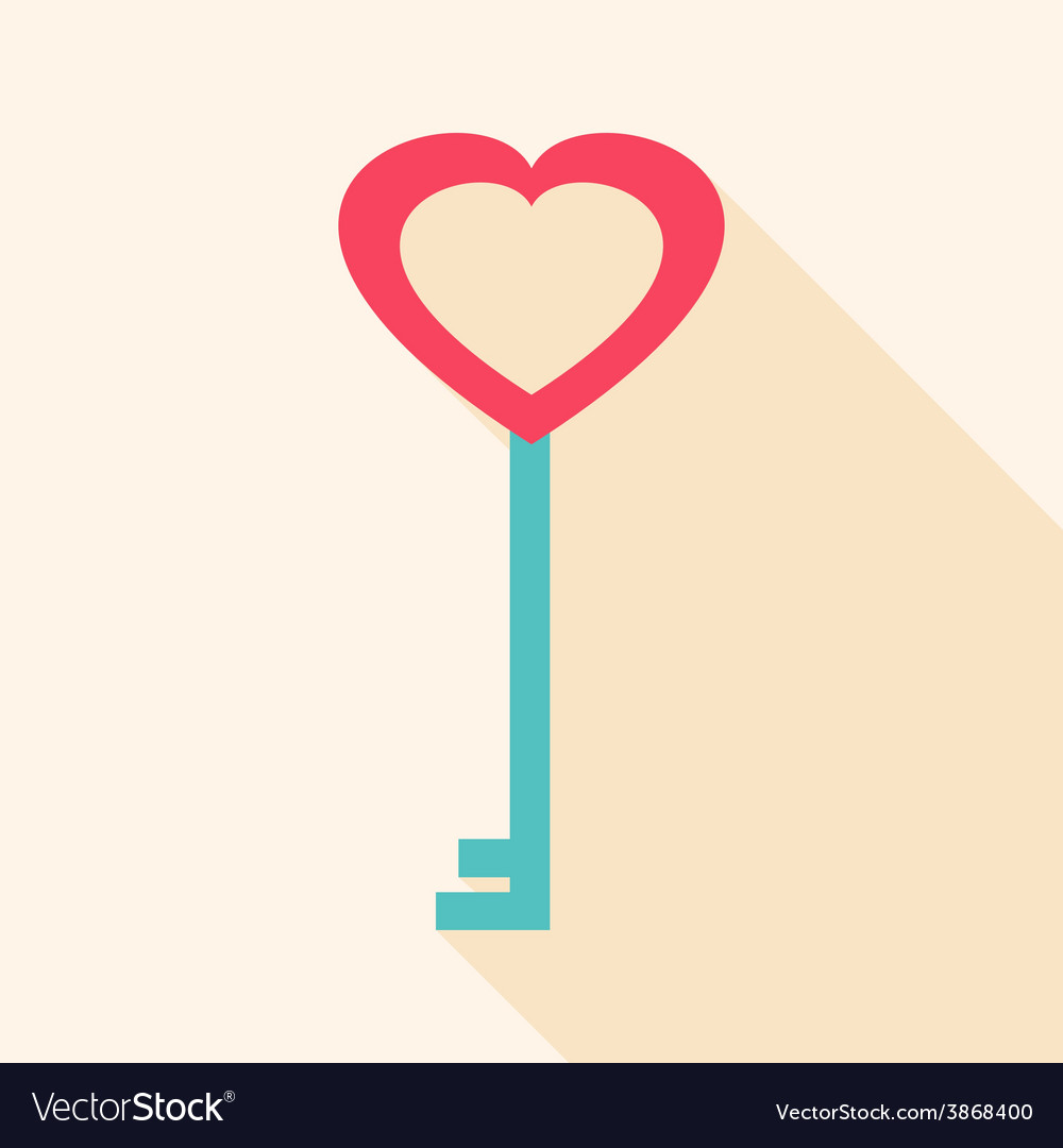 Key heart shaped vector | Price: 1 Credit (USD $1)