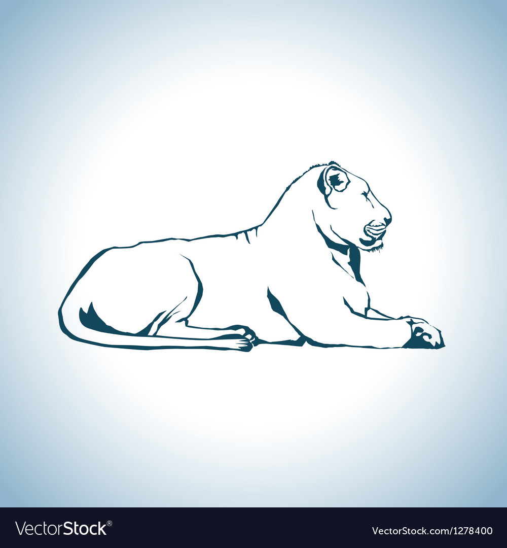 Lion drawing vector | Price: 1 Credit (USD $1)