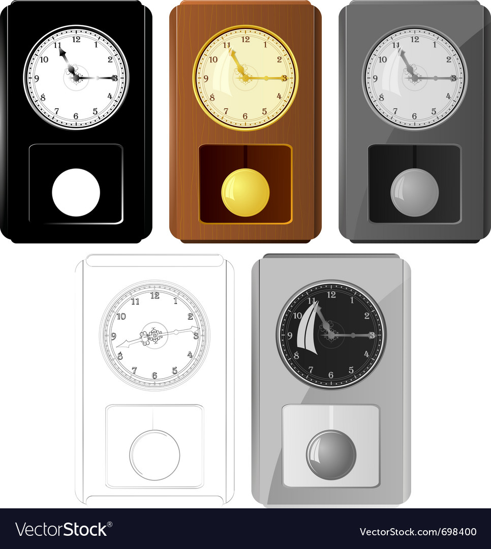 Pendulum clocks vector | Price: 1 Credit (USD $1)