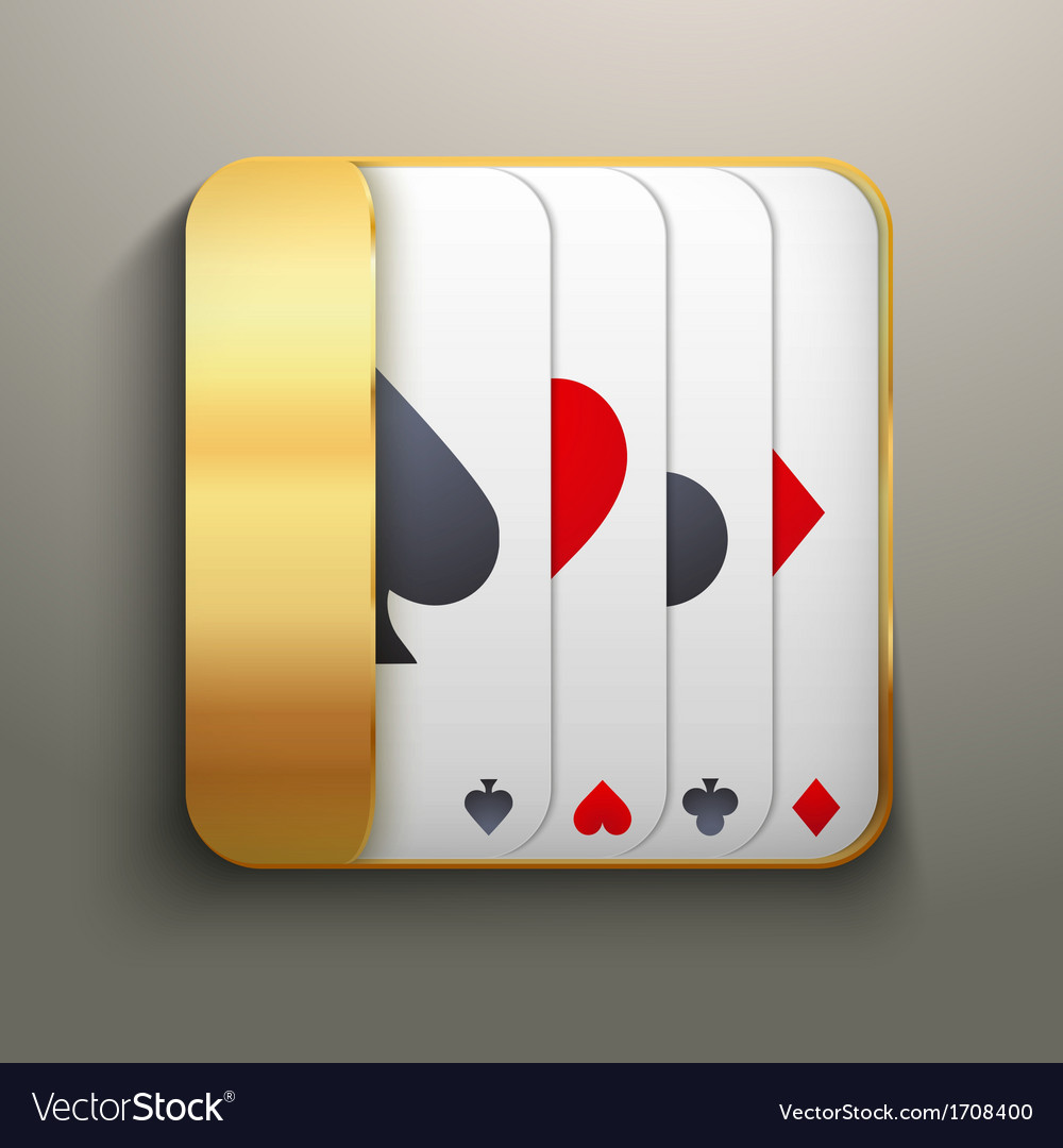 Realistic icon deck of playing cards for casino vector | Price: 1 Credit (USD $1)