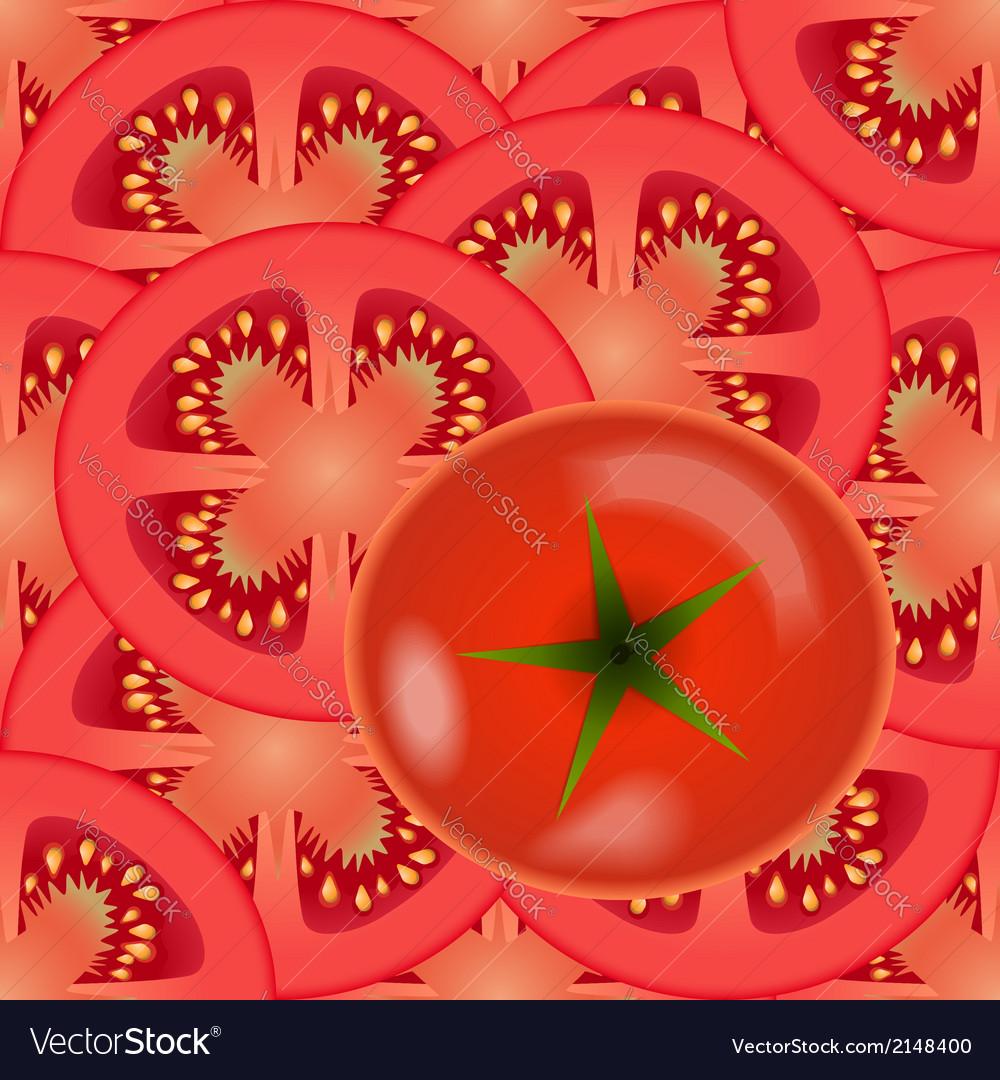 Sliced tomato vegetables vector | Price: 1 Credit (USD $1)