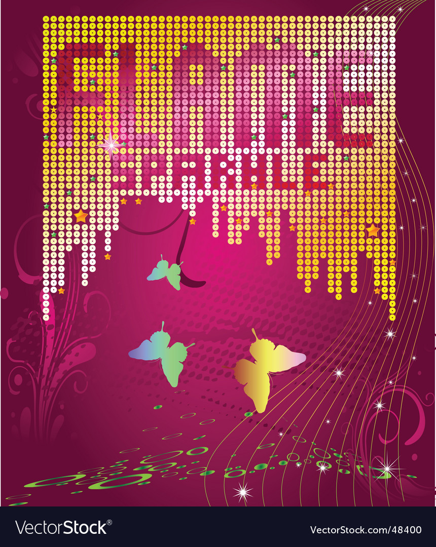Sparkle butterfly design vector | Price: 1 Credit (USD $1)