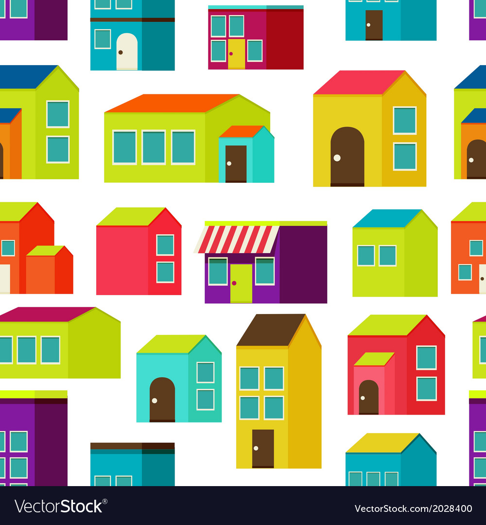 Town concept background pattern seamless vector   Price: 1 Credit (USD $1)