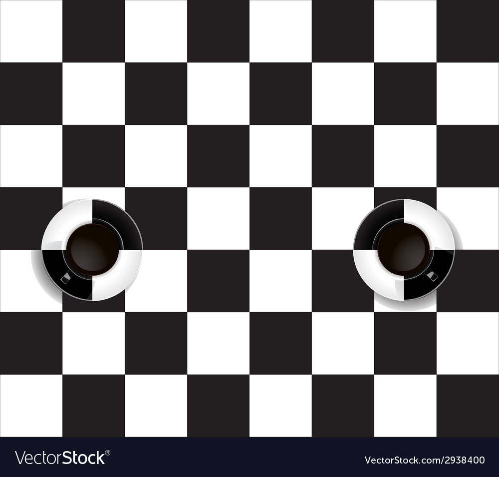 Two black and white coffee cup vector | Price: 1 Credit (USD $1)